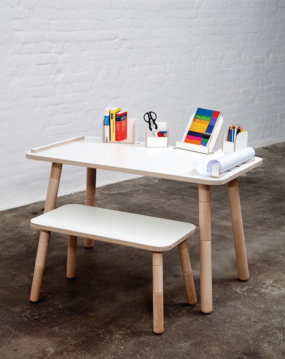 Bureau Fille Impressionnant Kindertisch Growing Table In Weiß 120 X 65
