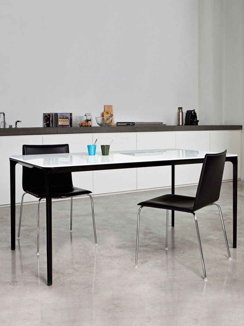 But Console Extensible Incroyables Glass Dining Table with Metal Frame Slim Glass Table top