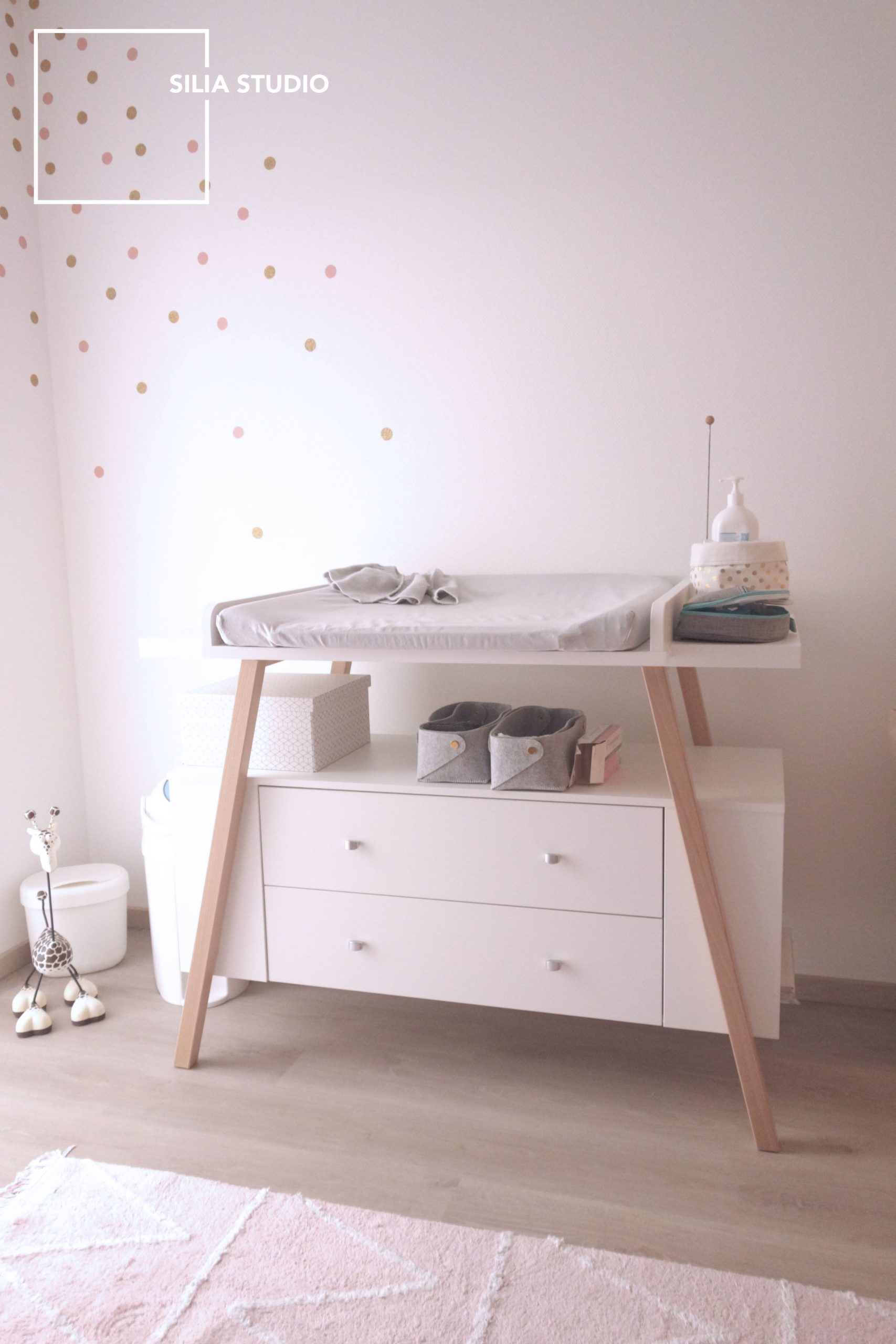 Commode Fille Impressionnant Table   Langer Scandinave Chambre Bébé Mode
