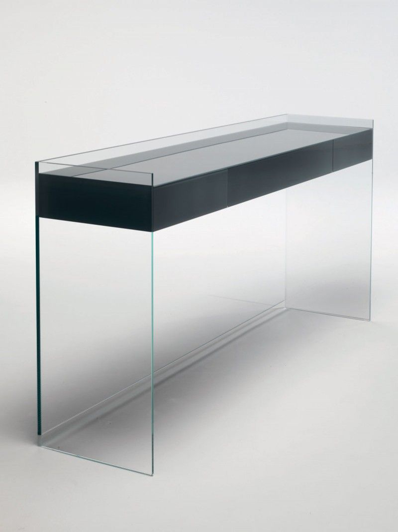 Console Transparente Superbes Float Console Table with Drawers Console with Handle
