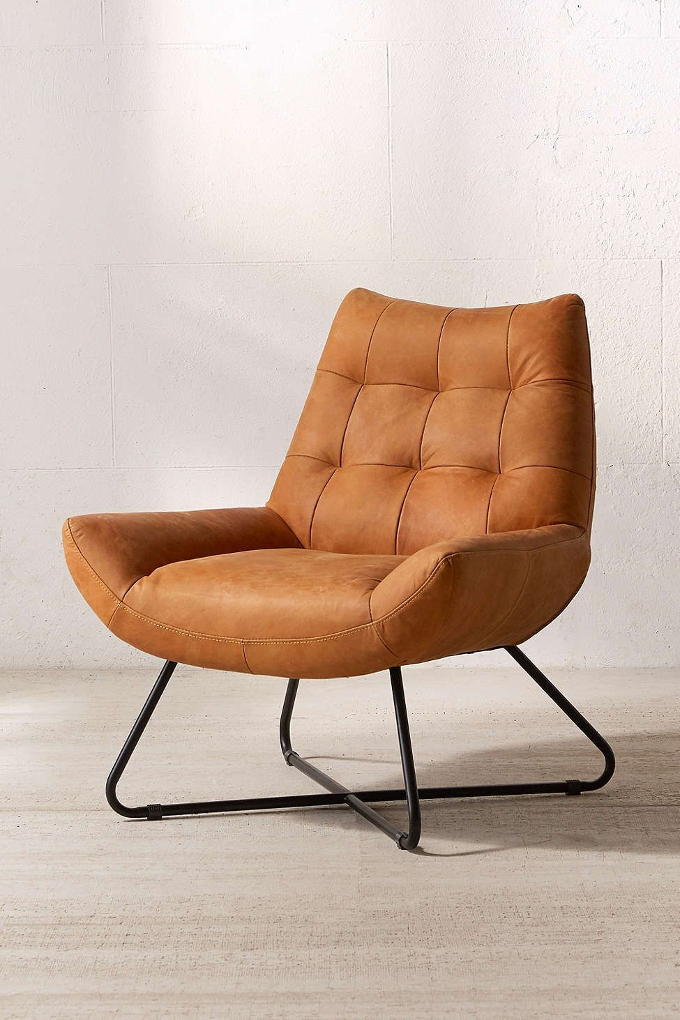 Fauteuil De Bureau but Nouveau Modern but Fy Leather Lounger Chair Urban Outfitters